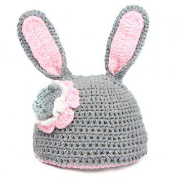 2Pcs Knitted Rabbit Photography Costume Set For Baby - GRAY
