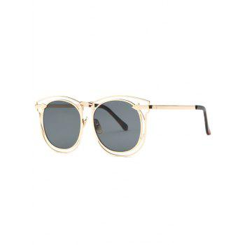Stylish Arrow Hollow Out Golden Sunglasses