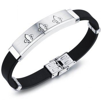 Simple Anti-Radiation Anchor Silicone Bracelet For Men