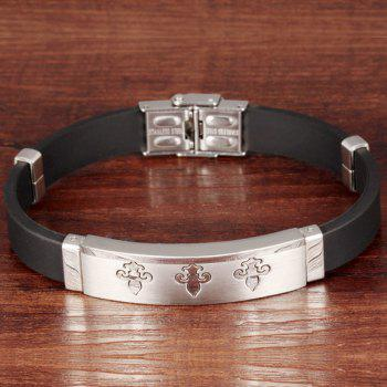Simple Anti-Radiation Anchor Silicone Bracelet For Men - SILVER