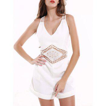 Tribal Pattern Hollow Out Backless Romper