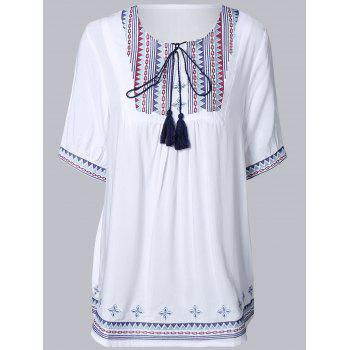 Ethnic Style Loose Fitting Embroidered Dress For Women