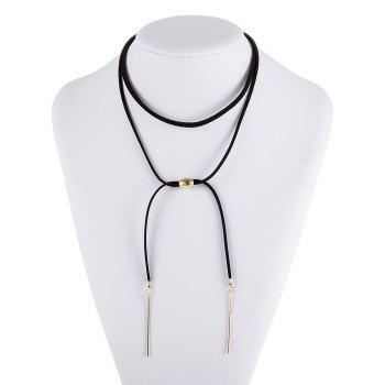 Bar Faux Leather Choker Necklace