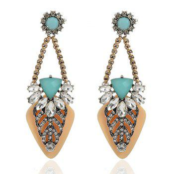Bohemian Style Rhinestone Geometric Drop Earrings