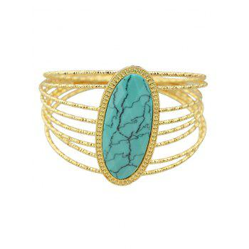 Layered Faux Rammel Oval Bracelet