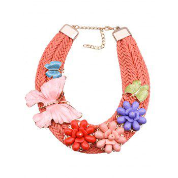 Bohemian Floral Butterfly Woven Necklace