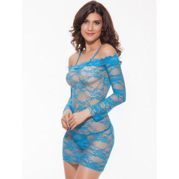 Alluring Women's Off-The-Shoulder Lace Babydoll