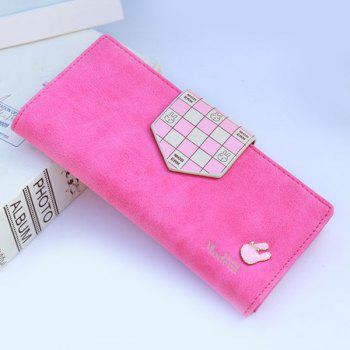 Cute Rabbit and Plaid Design Women's Wallet -  ROSE