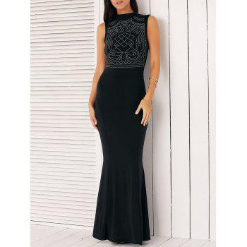Rhinestone Bodycon Formal Gown Dress