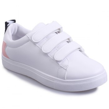 Casual PU Leather and Letter Pattern Design Women's Athletic Shoes