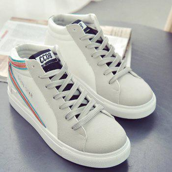 Casual Mid Top and Splicing Design Women's Sneakers