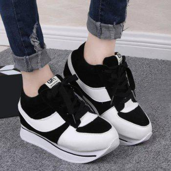 Stylish Splicing and Platform Design Women's Sneakers