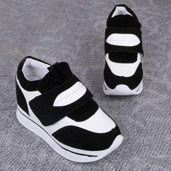 Trendy Color Block and Platform Design Women's Athletic Shoes