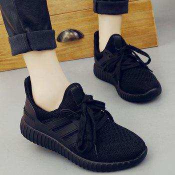 Casual Mesh and Solid Color Design Women's Sneakers