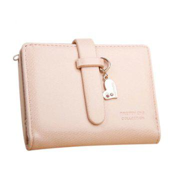 Buy Cute Solid Colour PU Leather Design Women's Wallet LIGHT PINK