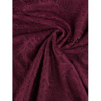Funky Short Wedding A Line Dress With Sleeves - WINE RED 2XL