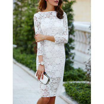 Cut Out Over Hip Lace Wedding Dress