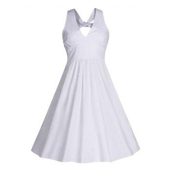 Back Bowknot Swing Cocktail Dress