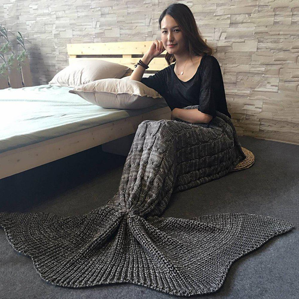 Knitted Braid Mermaid Tail Blanket For Adult rolsen rcc 300 2 цилиндра