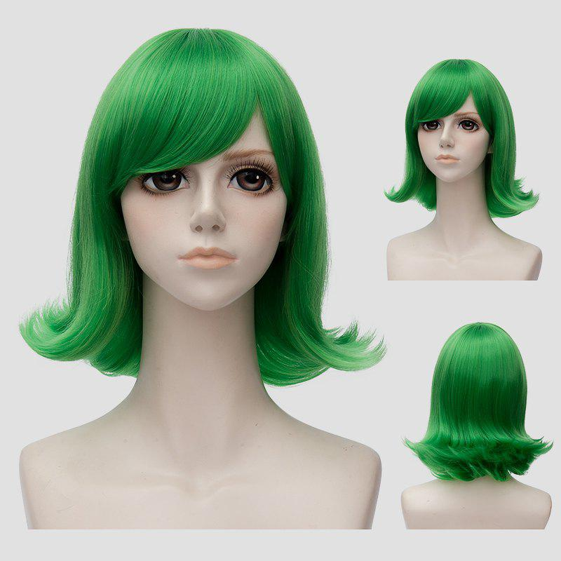 Stylish Fluffy Straight Short Green Anti Alice Hair Film Character Cosplay Wig the red queen cosplay wig alice in wonderland red short curly hair the film and television modelling wig free shipping