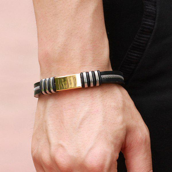 Healthy Chain Silicone Bracelet For Men - GOLDEN