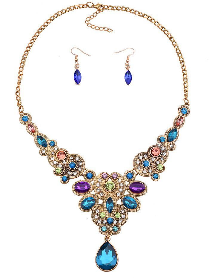 Noble Adorn Water Drop Necklace and Earrings