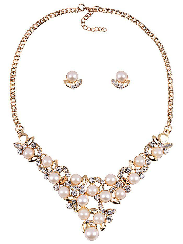 Graceful Faux Pearl Wedding Party Jewelry Set