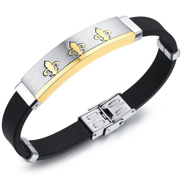 Simple Anchor Pattern Silicone Bracelet For Men - GOLDEN