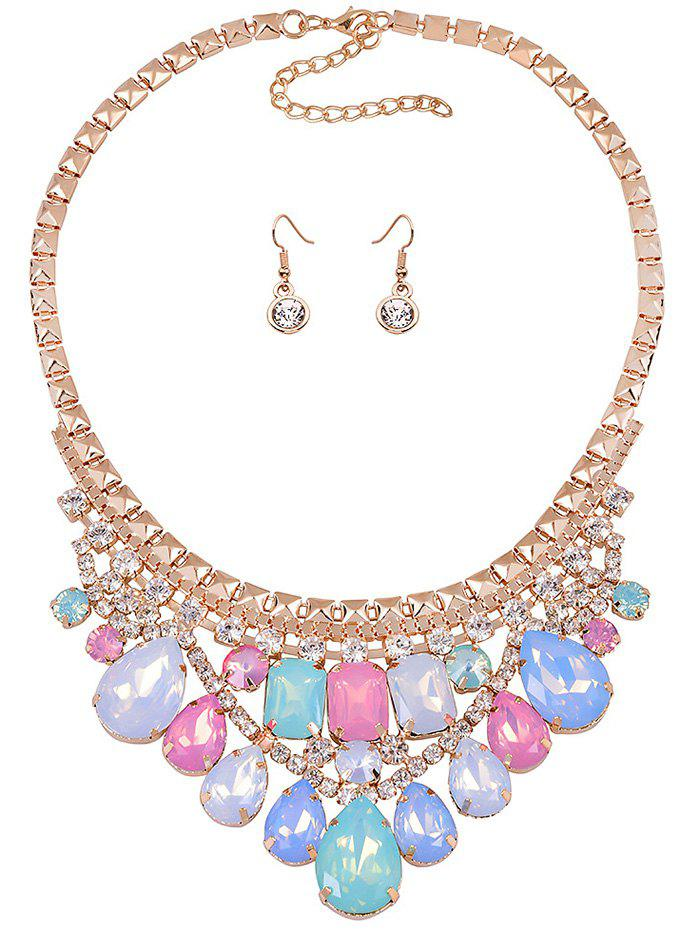 Stunning Faux Crystal Wedding Party Jewelry Set