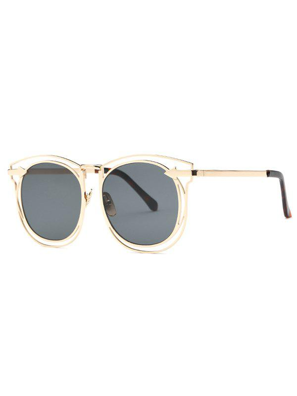 Stylish Arrow Hollow Out Golden Sunglasses - GOLDEN