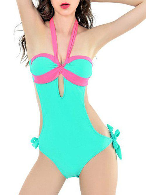 Halter One Piece Swimsuit With Padded Bra