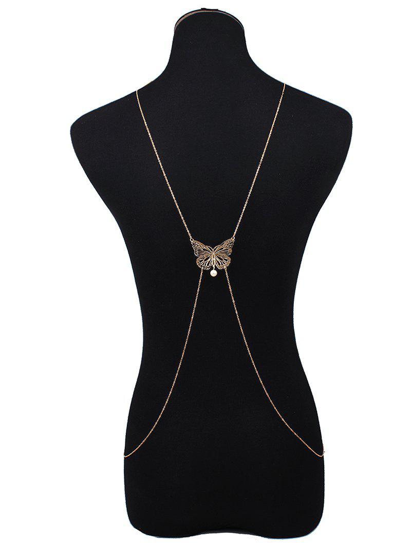 Stylish Hollowed Butterfly Body Chain
