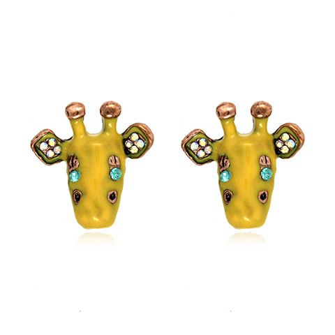 Pair of Cute Rhinestone Animal Earrings For Women