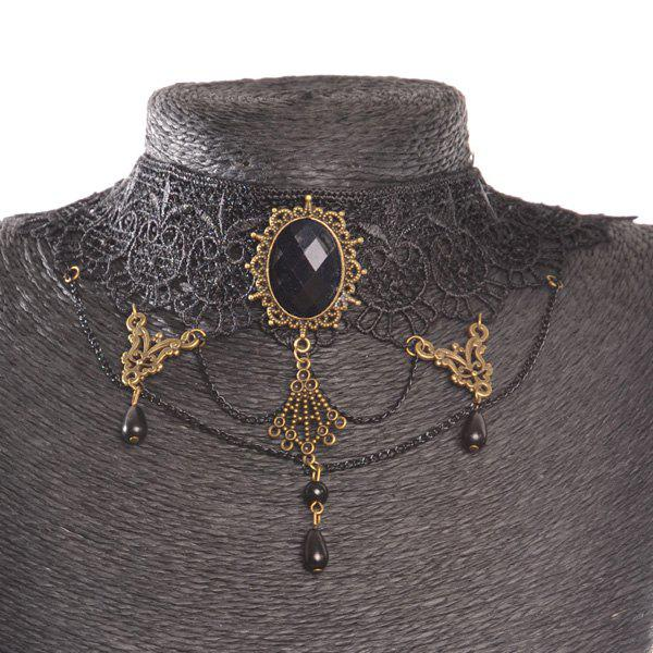 Punk Style Oval Water Drop Choker For Women