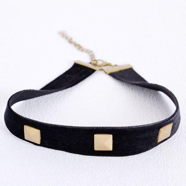 Alloy Square Choker - BLACK