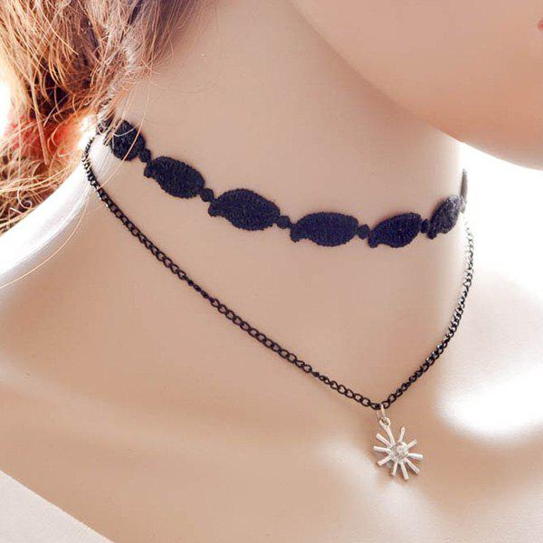 Chic Snowflake Leaf Choker For Women