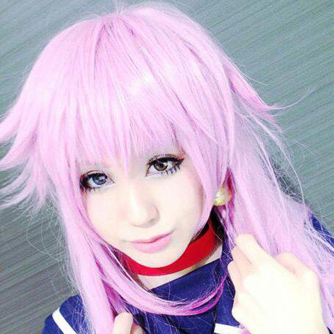 Fashion Hatsune Miku Long Straight Lavender Full Bang Cosplay Synthetic Wig - LIGHT PURPLE