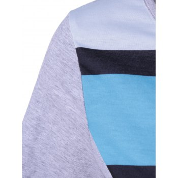 Casual Color Block Comfy T-Shirt - COLORMIX S
