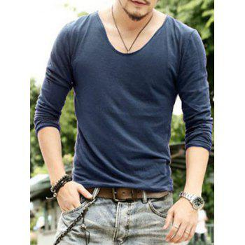 Casual Pullover Solid Color Men's Long Sleeves T-Shirt
