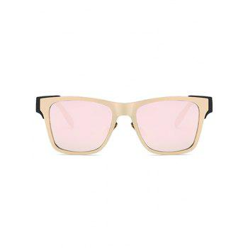 Stylish Color Block Mirrored Trendsetter Sunglasses - PINK