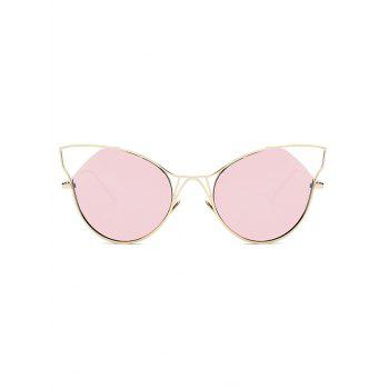 Stylish Cut Out Cat Ear Mirrored Sunglasses - PINK