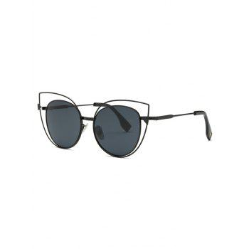 Stylish Hollow Out Black Cat Eye Sunglasses