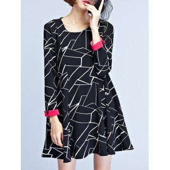 Stylish Geometric Print Loose-Fitting Women's Dress