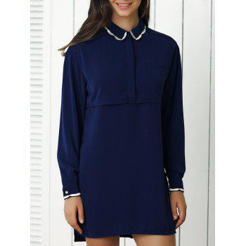 Peter Pan Collar Pure Color Dress