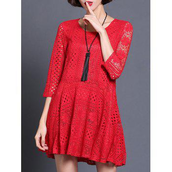 Chic Scoop Neck Hollow Out Slimming Women's Dress