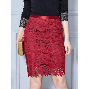 Mini Lace Bodycon Skirt