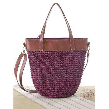 Concise Splicing and Weaving Design Women's Shoulder Bag