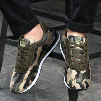 Stylish Tie Up and Camouflage Pattern Design Men's Athletic Shoes - ARMY GREEN CAMOUFLAGE 43