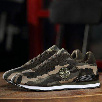 Chaussures élégant Tie Up and Camouflage Design Pattern Men  's - VERT D'ARMEE Camouflage 40