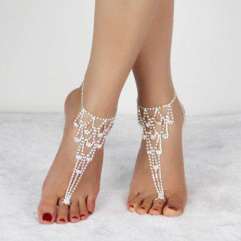 Openwork Rhinestoned Anklets